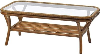 サンフラワーラタン ローテーブル ブラウン 幅100×奥行き50×高さ40cm ラタン×ヨーロッパリゾート センターテーブル T1271GY