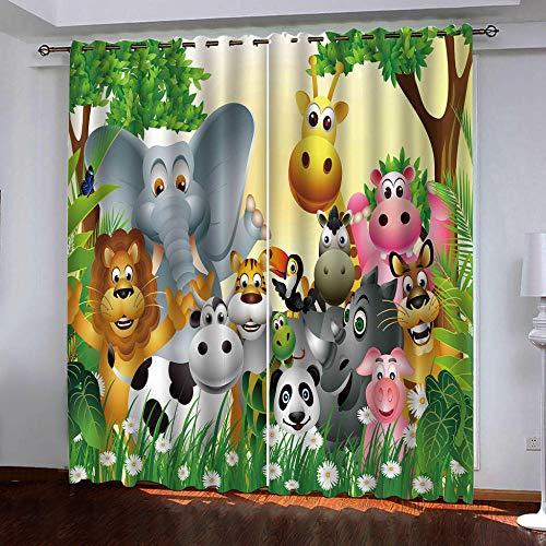JYNVOAT -  Vorhang Kinderzimmer