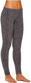 Cuddl Duds ClimateRight Women's Stretch Fleece Warm Underwear Leggings/Pants (Small, Leopard)