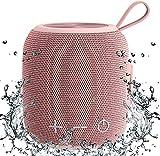 Altavoz Bluetooth Portátil Mini Bluetooth 5.0 Doble Emparejamiento Inalámbrico Altavoz, Sonido Envolvente Graves Estéreo Ricos, Impermeable para Viajes, Piscina y Ducha al Aire Libre