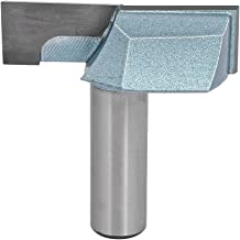 uxcell 1/2-Inch Shank 2-Inch Cutting Dia Double Flute Carbide Tipped Cleaning Bottom Router Bit