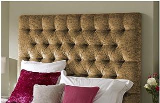 H-Cube Meble Chesterfield Divan podstawa łóżka zagłówek gnieciony aksamit pasujące diamenty guziki do montażu na ścianie (...