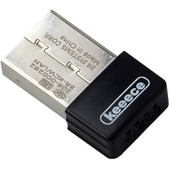 3R  スリー・アールシステム 11n 対応 11g/b/n 無線 LAN 子機 [keeece] 高速 150mps コンパクト サイズ USB アダプタ 型 ブラック 3R-KCWLAN