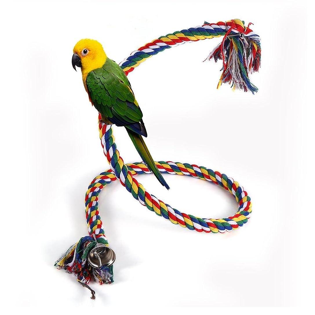 周り予定学校教育ロープパーチ 中小型 インコ 小鳥 オウム とまり木 ロープ 橋 おもちゃ 脚に優しいタッチ ストレス解消
