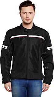 Royal Enfield Nylon Black Riding Jacket for Men Size (L) 42 cm (RRGJKH000041)