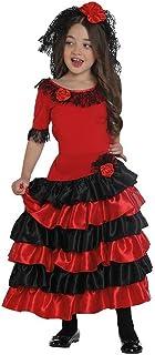 "Rubie""s Rubies Spanierin Kleid für Kinder 164, schwarz / rot"