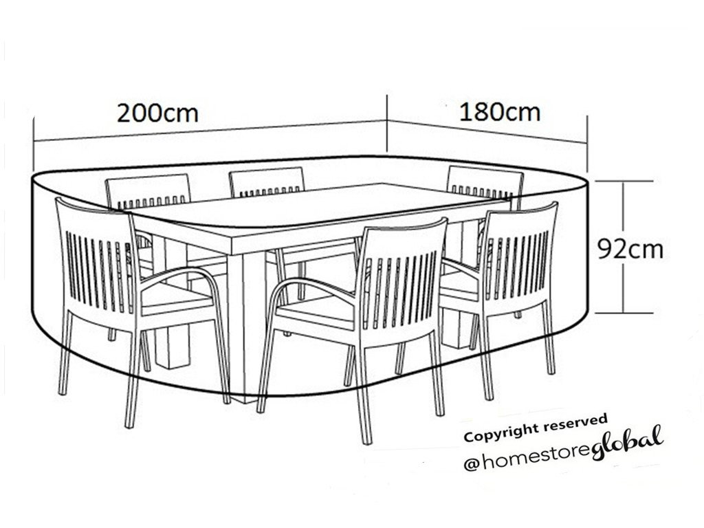 HomeStore Global mediano forma oval Funda para muebles de jardín ...