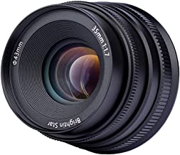 35mm F/1.7 Large Aperture Manual Prime Fixed Lens for Sony E-Mount APS-C Camera A33 A35 A37 A55 A57 A58 A65 A77II A77 A99 A6500 A6300 A6000 A5100 A5000 NEX-3