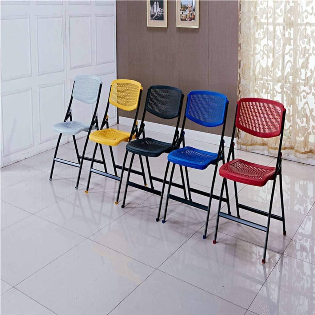 Chaise Camping Chaise Pliante,Plastique Réunion Dossier Bureau Ordinateur Chaise Bleu