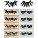Mikiwi 25mm Faux Mink Lashes 8 PACK, 25mm 6D Faux mink lashes, Fuffy Mink Eyelashes, Dramatic Lashes, 25mm Faux Mink Eyelashes