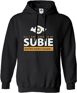 Sheki Apparel Care About is My Subie Men's Hoodie Hooded Sweatshirt