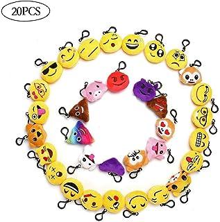 20 PCS Emoji Felpa del Diseño Creativo Mini Almohada Llavero Lindos Adornos para El Favor del