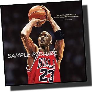マイケル・ジョーダン シカゴ・ブルズ デザインC NBA プロバスケットボール 海外スポーツアートパネル 木製 壁掛け インテリア ポスター...