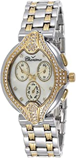 Charisma Women's White Dial Yellow Gold Plated Band Watch - 6520