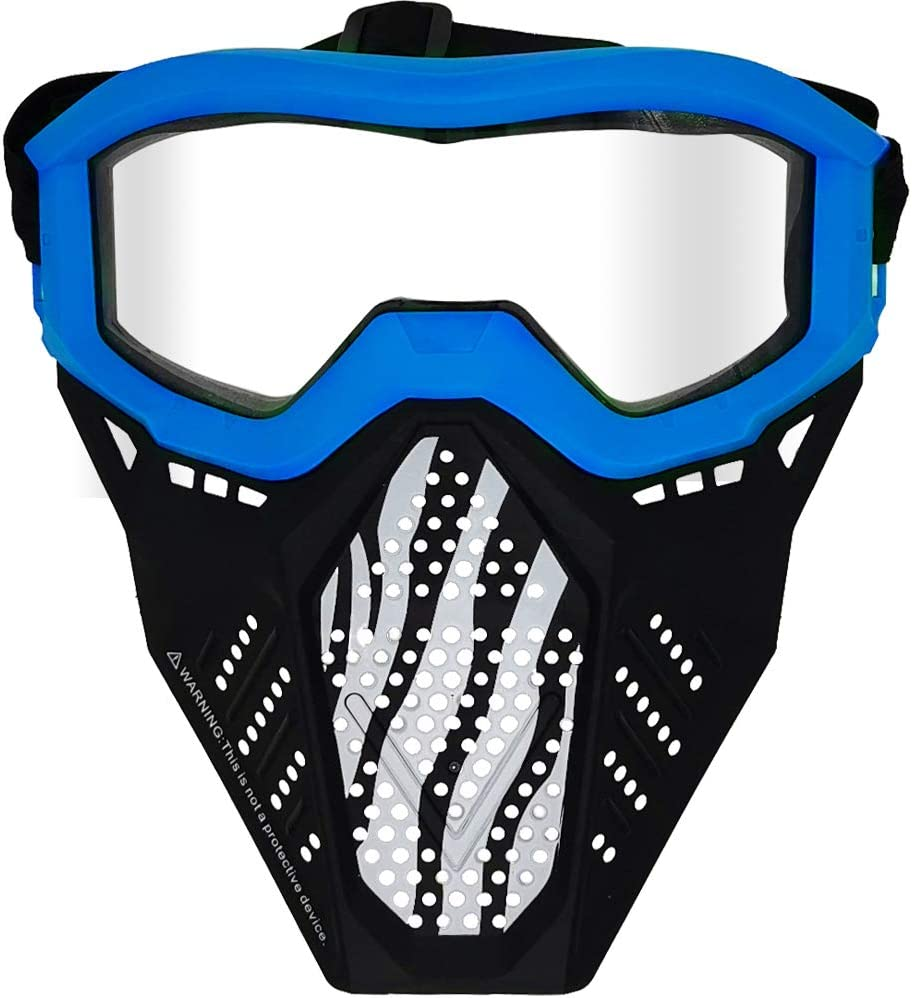 Khaos Atlas Surper 2 Pack Face Mask Tactical Mask Compatible with Nerf Rival Yellow/&Blue Apollo Zeus Artemis Blasters Rival Mask