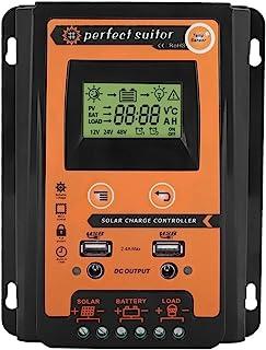 Keenso 12V/24V 30A/50A/70A MPPT Controlador de carga solar Panel solar Regulador de batería Pantalla USB dual LCD(30A)