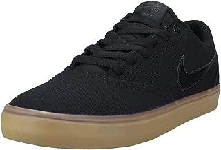 Nike Men's SB Check Solarsoft Canvas Skateboarding Shoes Black/Black-Gum Light Brown 11