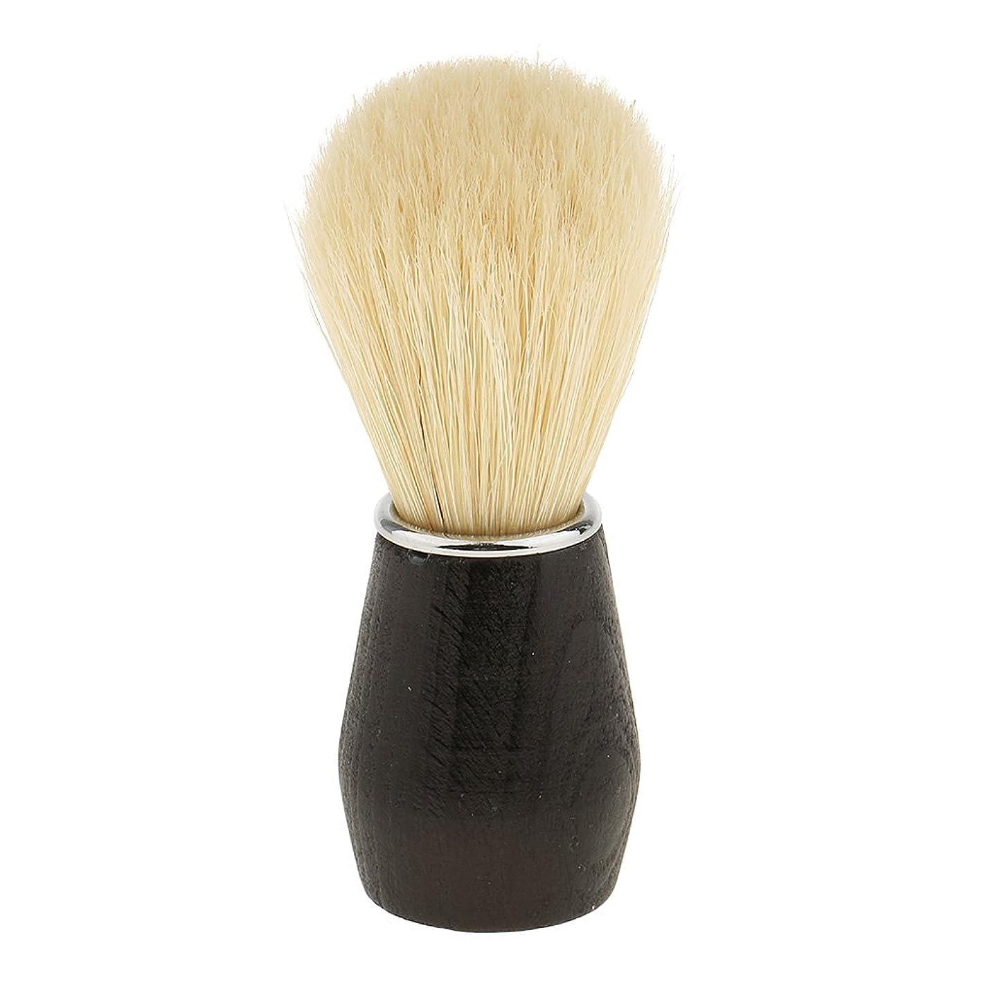 ゴルフリンクノミネートHellery ひげ剃りブラシ シェービングブラシ 毛髭ブラシ フェイシャルクリーニングブラシ プラスチックハンドル