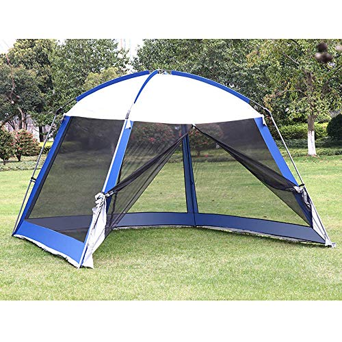3m Outdoor Garden Tent with Mosquito Side Net,Metal Gazebo Awning Curtains Cover Waterproof Canopy for Camping,Large Event Tent with Sun Protection,A