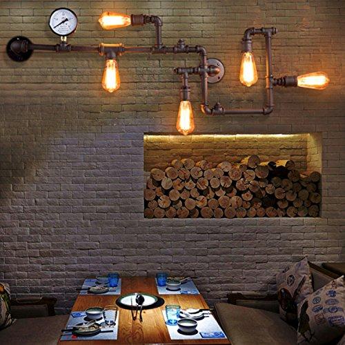 kinine Vintage industrielle mural vent Balcon Loft personnalité d'éclairage créative American Bar et Restaurant eau de fer de la paroi du tube lampes mural