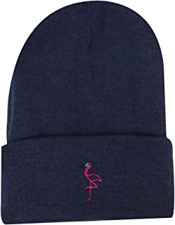 238dc98c7df City Hunter Sk901 Neon Sign Flamingo Winter Ski Beanie Hats 2 Colors
