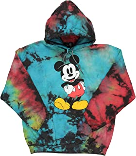 Disney 男式 Mickey Mouse 图案扎染连帽衫