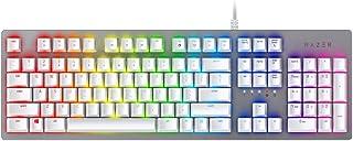 Razer Huntsman Mercury, Light and Clicky Gaming Keyboard, US Layout, White