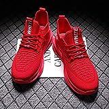 Aerlan Comfortable Sports Shoes,Zapatillas para Correr con Acolchado de Aire,Calzado Casual Transpirable para Hombre Calzado Deportivo al Aire Libre Calzado para Hombre-Red / Red_42#