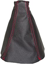 The Tuning-Shop Ltd for Honda S2000 AP2 2004-09 Shift Boot Black Genuine Leather Red Stitching