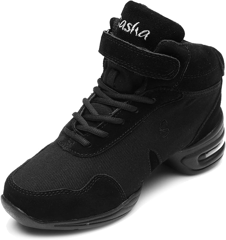 HIPPOSEUS Women's Boost Dance Sneaker Jazz Dance Sneaker Modern Jazz Soft Canvas Mesh Sport Sneaker,Model B60