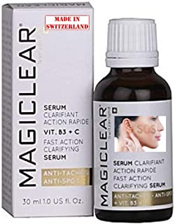 Luxury Dark spot remover for Face and Body Serum - Brightening Anti spot corrector Acne scar - Anti aging - Bleaching Lightening Vitamin C - Best Swiss brand Magiclear 30 ml 100% result