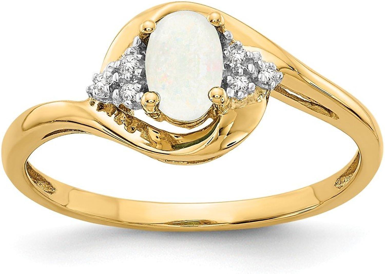 14K Diamond & Opal Ring   Ctw. 0.02, Gem Ctw. 0.29