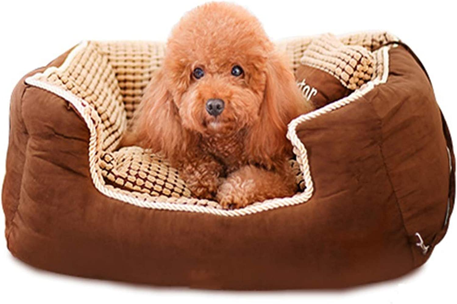 Pet Bed Teddy Dog Pad Large Small Pet Mat Four Seasons Universal Washable Brown Multisize (Size   S)