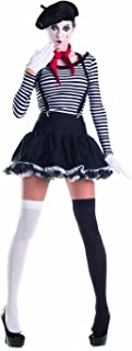 Party King Women's Mesmerizing Mime 7 Piece Costume Set with Hat