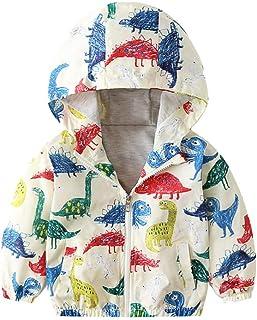 20ea7b48ab2 Kehen Boy's Girl's Dinosaur Print Zip Jacket Hooded Windproof Raincoat Toddler  Baby Long Sleeve Hoodie Trench