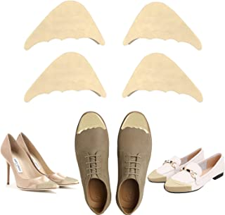 Shoe Filler, Toe Filler & Shoe Inserts to Make Big Shoes Fit, Shoes Too Big Inserts, Unisex Memory Foam Insoles for Shoes Too Big Hack (2 Pairs) (Nude)