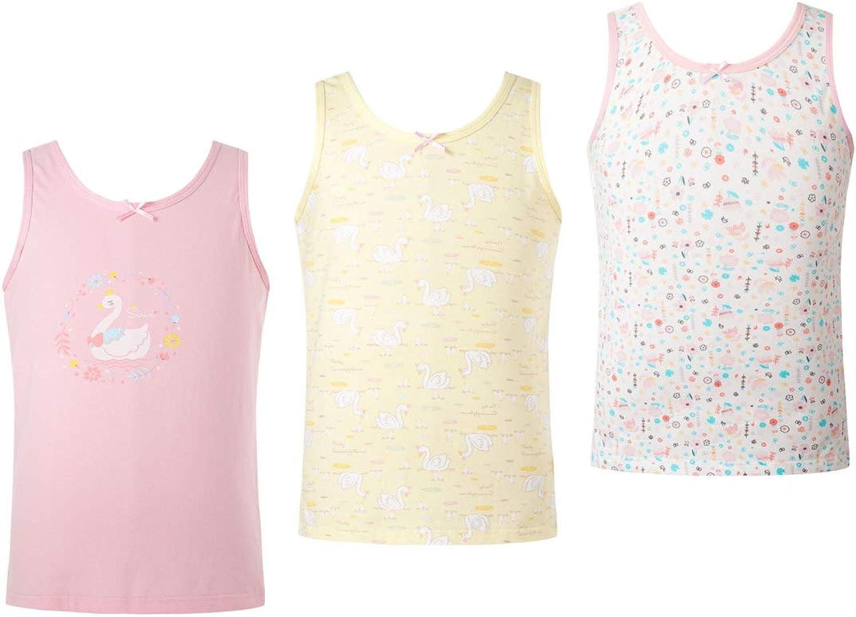 YUUMIN Girls Boys 3Pcs Tanks Camisole Lovely Cartoon Print Sleevelss Cotton Undershirt Top