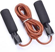 HFJKD Speed ??Jump Leather Rope Leather Jump Rope Fitness Jump Rope Exercise Training with Back Bag Spare Exercise Endurance and Weight Loss Fitness