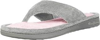 حذاء Dearfoams Melanie من نسيج الميكروفيبر المبطن بالألوان