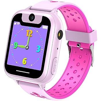 Niños Inteligente Relojes, Juegos de Pantalla táctil wach Sim Pantalla táctil Actividad de Chat de Voz de Llamada SOS para niños Escolares de 3 a 14 años de Edad(Rojo): Amazon.es: Electrónica