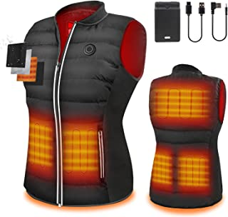 [2021 New Upgrade]ZLTFashion Heated Vest With Battery Pack USB Charging Electric 5V Heated Jacket Body Warmer for Men&Women