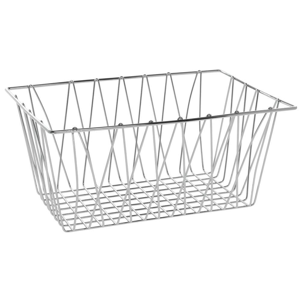 Hubert Wire Japan's largest assortment Display Basket Rectangular Plated Pastry Bask Safety and trust Chrome