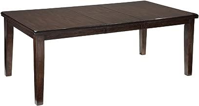 Ashley Furniture Signature Design - Haddigan Dining Room - Self-Storing Butterfly Leaf - Dark Brown Finish