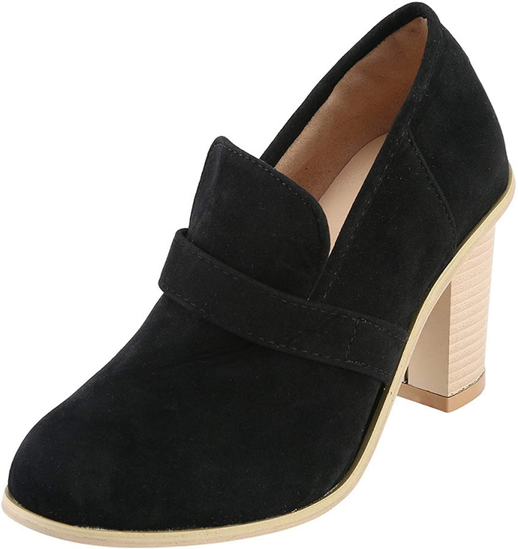 Star Harbor Women shoes Thick high Heels Ankle Pumps Spring Autumn Faux Suede Platform Vintage shoes Female
