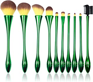 Jaspik Makeup Brush Set Generic and Professional for Girls, Makeup Brush for Eye Face Foundation Liquid Blush Eyeshadow,Makeup brush Combo Set of 10 for Low Price,for Daily Life and Travel (Green)