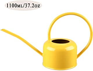 Asvert Long Spout Watering Can Rustic Samll Watering Pot Retro Textured Gardening Tools 1.1L/ 37oz (Yellow)