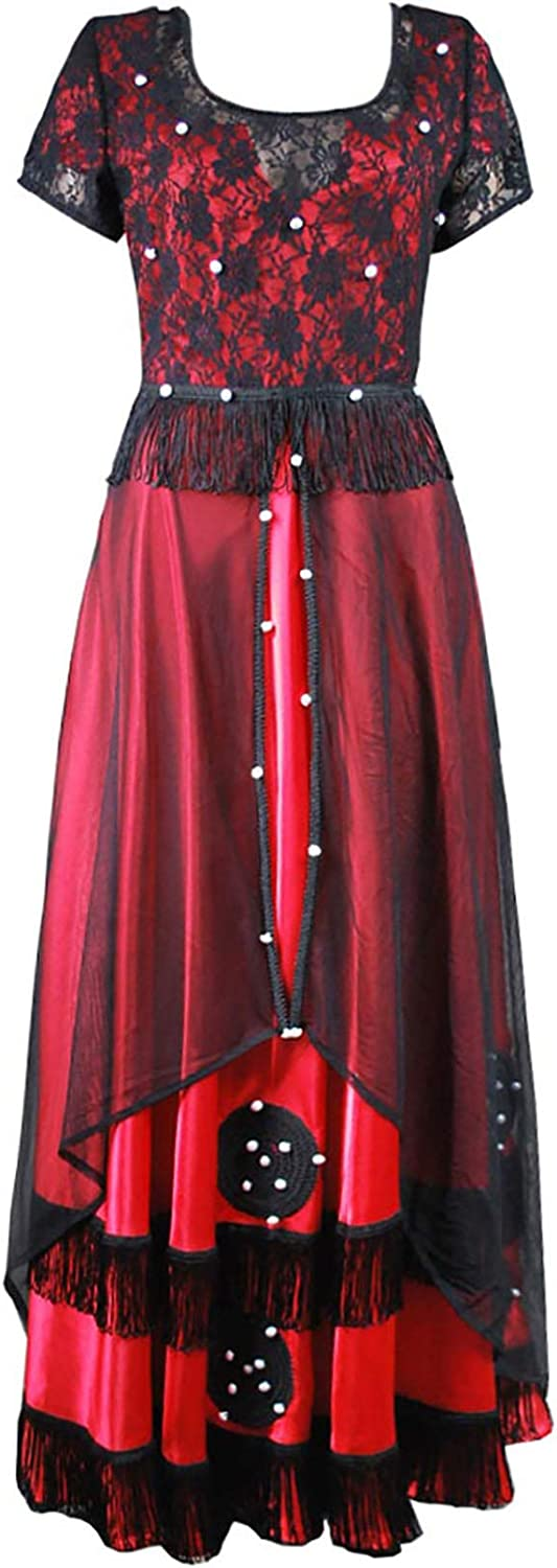 Year-end gift CosplayNow Titanic Cosplay 35% OFF Rose Costume Long Dress Black Red Lac