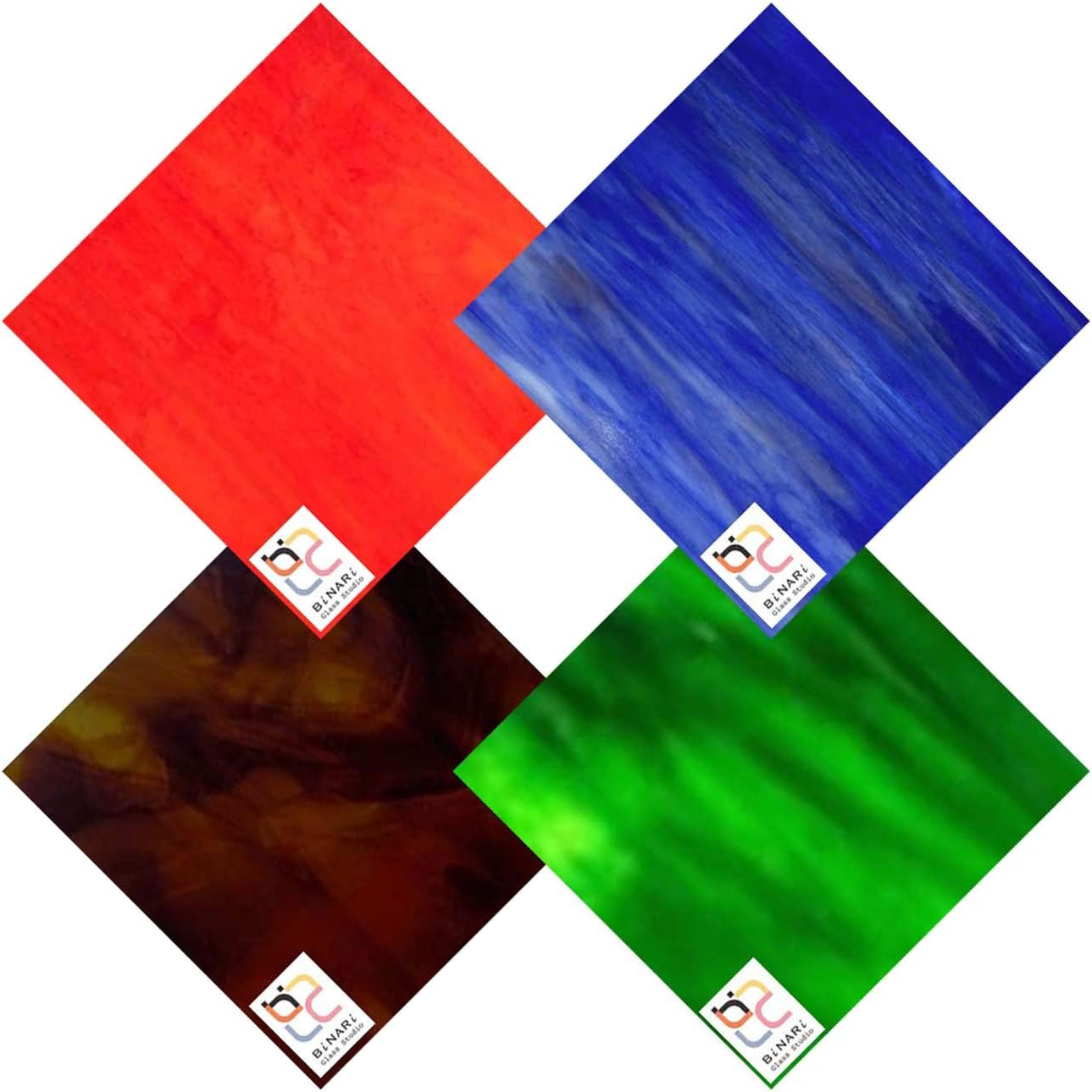 Wissmach 4 Sheet Mixed Color Max 77% OFF New product!! Variety Stained Orange Pack Glass