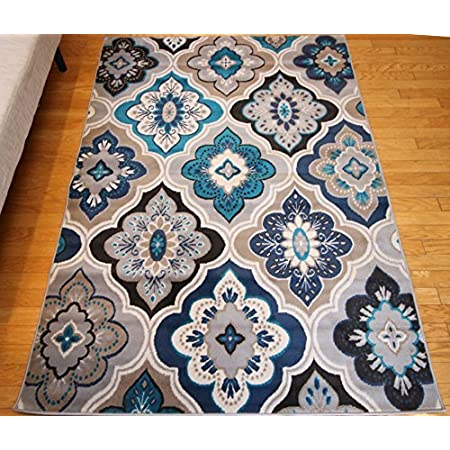 Amazon Com Generations New Contemporary Panal And Diamonds Beige Navy Coral Blue Grey Modern Area Rug Rugs 13x16 Furniture Decor
