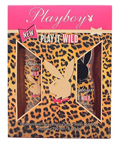 Playboy Play It Wild Deodorant Spray und Dusche Gel Geschenk Set